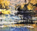 Stilla nátt 80x120 cm - artist Birgit Kirke