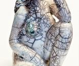 Raku Sculpture 24 cm high - artist Birgit Kirke