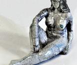 Raku Sculpture 19 cm high - artist Birgit Kirke