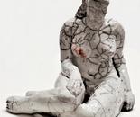 Raku Sculpture 23 cm high - artist Birgit Kirke