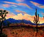 Sonoran Desert Sunset- Arizona