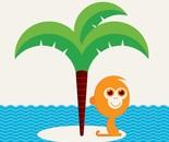 El mono en el islote