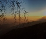 winter sunset o the Alps