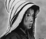 Tibetan young girl