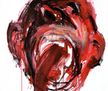 Scream, variant II, acrylic on cardboard, 100 x 70 cm.