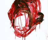 Scream, variant I, acrylic on cardboard, 100 x 70 cm.