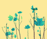 Autumn leaf (Blue)