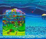 Treasure map sleeping in water