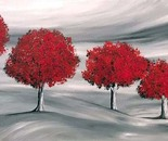Five red trees