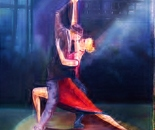"""Tango with Love "" 36x24 oil"