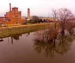 Reflections of Mississippi River at Historic Flood Stage