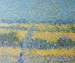 Wheat field with fence.