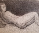 "Study After Modigliani's ""Nu Couche"""