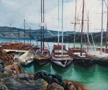 Boats in Santorini