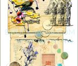 12.WOMEN-BIRD-collage-scan-print-17x22
