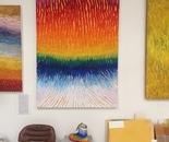 Energy 2 oil/lime paint on canvas 66 x 48