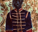 """The American Jim Hercules, who was employed as one of the famous black   """"Abyssinian Guards"""" at the Imperial Russian  Courts of both the  Emperor Alexander  111 and Emperor Nicholas 11"""