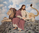 Jesue Lamb of God and lion of Judah