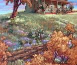 Fleurs sauvages sur la colline
