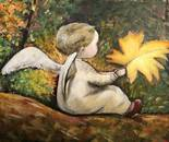 Little angel in the fall