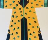 Navy and Gold Kimono