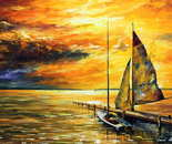 SAILING AWAY — oil painting on canvas