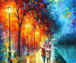 LOVE BY THE LAKE— oil painting on canvas