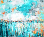 Turquoise Reflections Original acrylic painting on canvas