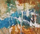 Acrylic on canvas, 120 by 120 cm.