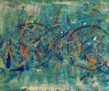 Acrylic on canvas,  50 by 70 cm
