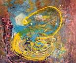 Acrylic on canvas, 100 by 100 cm