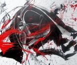 Abstrakt schwarz - rot