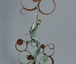"""The one who sells air"", bronze, steel, 81х40х12"