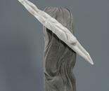 """Pearl catcher"", marble, granite, steel, 61x40x19"