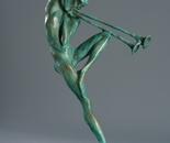 """""""Marsyas"""", bronze, steel, 38x24x15"""
