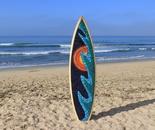 Wave/Sun Mosaic Surfboard