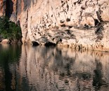 The Kimberley; Limestone Cliffs in Giekie Gorge