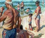 The British on the spanish beach