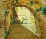 Strada con arco a Framura (Liguria) It