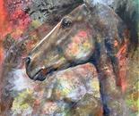 Wind Gossip - Mottled Horses