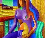 Violeta on the beach balcony