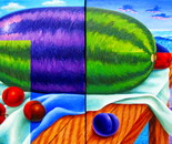 Diptych of the big water melon