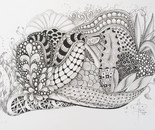 Zentangle-inspired drawing: No name