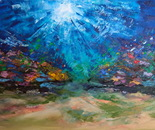 """UNDERWATER PAINTING """"Coral reef of the Red Sea"""""""