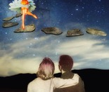 Star Gazing, art by Rachel Hancock retrogoddesses