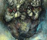 """untitled oil on wood """"untitled"""""""