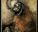 "Portrait oil on wood ""untitled"""