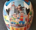 Custom anime helmet upper side