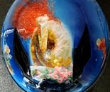 Sirens-themed custom helmet upper side