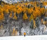 Dolomites Italy in Winter